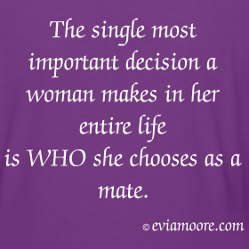 Woman's most important decision